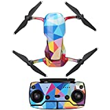 Hobby Signal Waterproof PVC Carbon Grain Stickers Carbon Graphic Skin Full Set Drone Body Battery Remote Controller Decals for DJI (Colorful Rhombus)