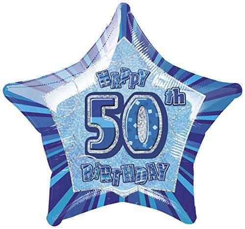 Star 50th Birthday Balloon (Star 20 Inch Foil Balloon)
