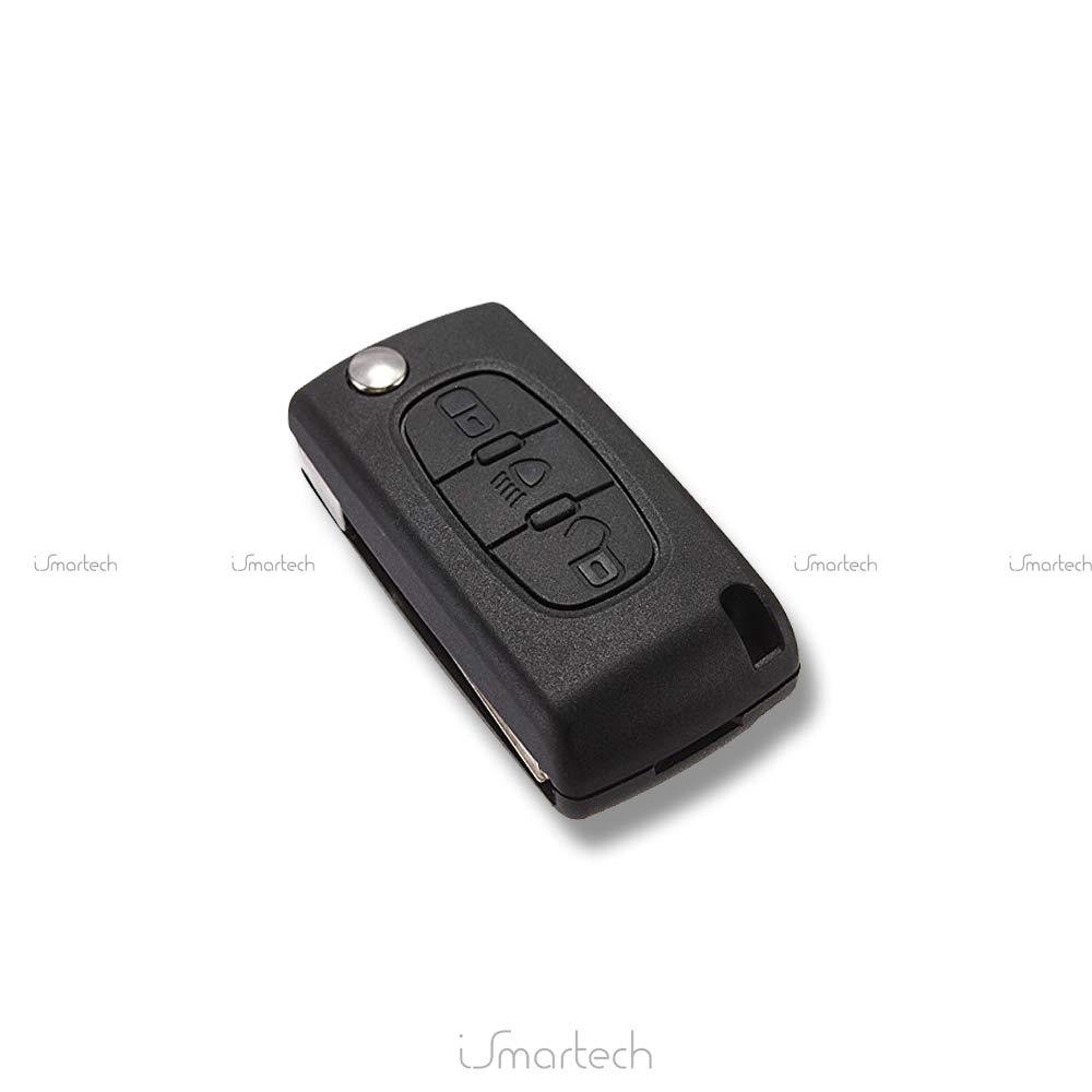 Schutzh/ülle Geh/äuse 3 Tasten-Fernbedienung Kofferraumwanne Peugeot 107 207 307 308 407