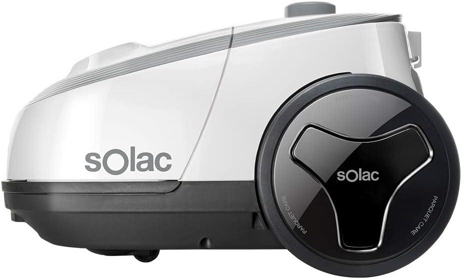 Solac S94810700 Aspirador trineo con bolsa, 3 litros, eficiencia energética aaa, filtro hepa, Aluminum: Amazon.es: Hogar