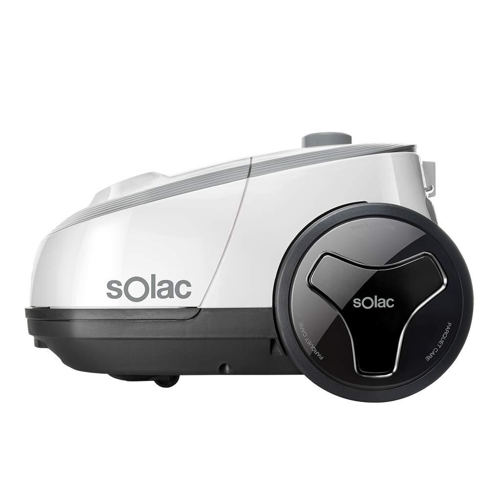 Solac S94810700 Aspirador trineo con bolsa, 3 litros, eficiencia energética aaa, filtro hepa, Aluminum