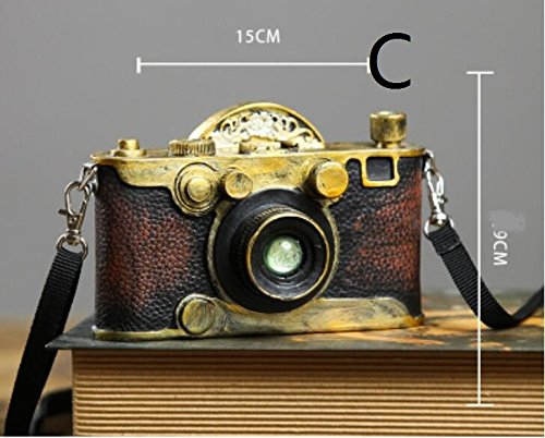 Retro resin craft gift shop window photography camera model props ZCL11240134 ( Color : B )