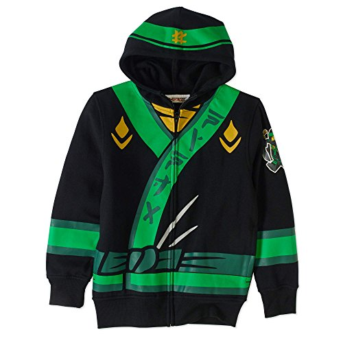 Lego Ninjago Little Boysu0027 Lloyd Costume Hoodie Black 5/6 lego ninjago  sc 1 st  Top Toys : kids green ninja costume  - Germanpascual.Com