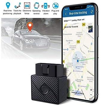 XuBa OBD II GPS rastreador de vehículo en Tiempo Real Dispositivo de Seguimiento para Coche camión localizador: Amazon.es: Informática