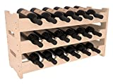 Cheap Wine Racks America Ponderosa Pine 18 Bottle Mini Scallop. 13 Stains to Choose From!