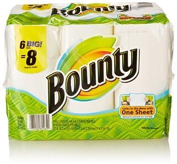 """Bounty rollo de papel toallas 6 Big 11 """"x 11"""" ..."""