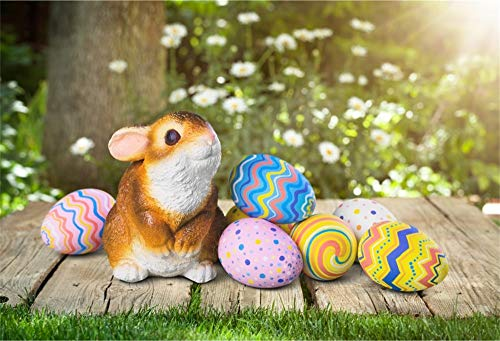 (Baocicco 7x5ft Happy Easter Backdrops for Photography Toy Easter Rabbit Backdrop Colorful Patterns Easter Eggs Backdrop Spring Outdoor Background Photo Shooting Booth Photo Studio Video Props)