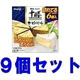 明治 北海道十勝 カマンベールチーズ 切れてるタイプ 100g  9個セット クール便発送(要冷蔵)