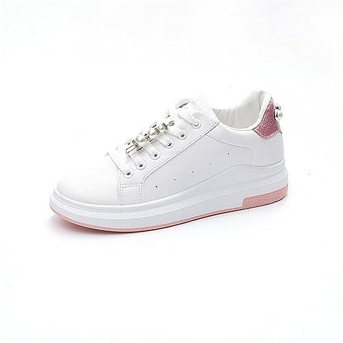 ahorrar 51ea6 f62e0 Zapatos de Mujer Gruesos con Cordones de Tulle, Zapatos ...