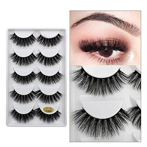 64da945711a 5 Pairs Cilios Eyelashes Natural Long Lashes Makeup Volume Fake Eyelashes  3D Mink Lashes Mink Eyelashes