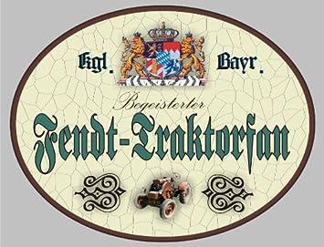 Tractor Fendt Holzschild ulrati - escudo de Baviera (18 x 14 ...