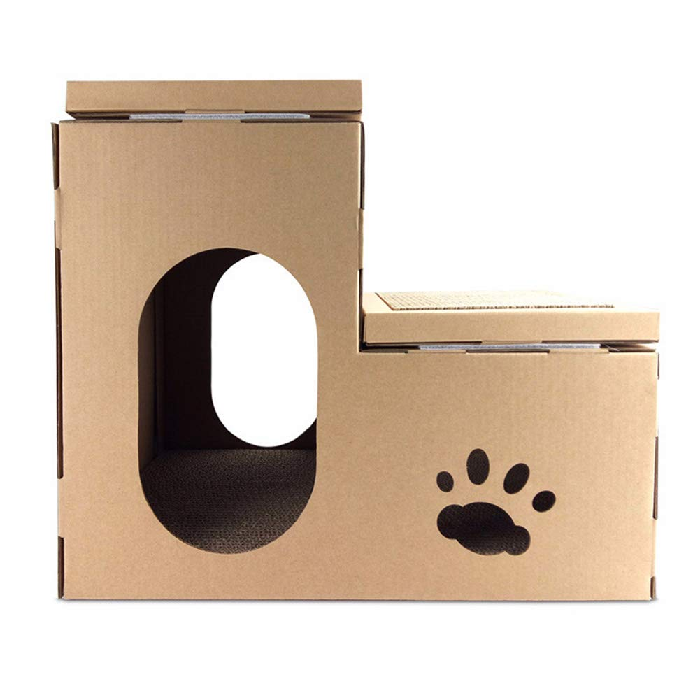 DIY Comet Man Corrugated Paper Cat House Double House Cat Scratch Board Cat Claws Toy Cat Litter