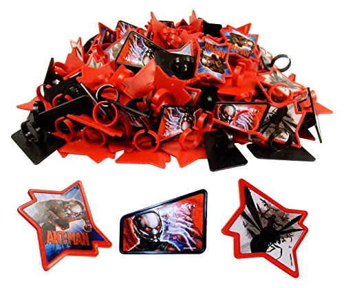 Cupcake Toppers, Marvel Avenger Rings, Ant Man 1728 Pcs Party Favors, Grab Bags. by Tom David Lewis