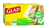 Glad Zipper Food Storage Sandwich Bags - 100 Count - 6 Pack , 6 Count