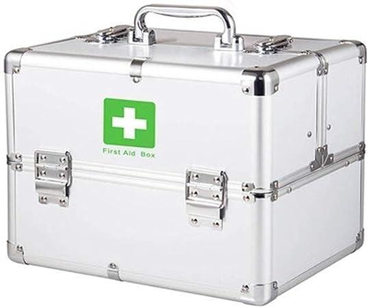 Botiquín de Primeros Auxilios Bloqueable Botiquín portátil Kit de primeros auxilios Caja de aluminio de la