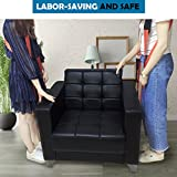 Moving Straps, BigRoof Lifting Adjustable Shoulder Carrying Moving Belt Moving Supplies Heavy Object Sofas Cabinets Mattresses Back Max Load 650 Pound (White)