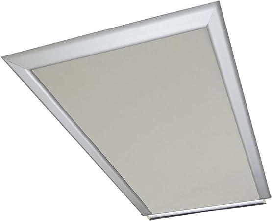 della tela di colore bianco beige//crema/ Store per finestre Velux GGU//GGL//GPU//GPL//GHU//GHL//GTU//GTL//GXU//GXL C04/Retro parte esterna /38,3/x 74/cm larghezza x lunghezza / /Dotato di binari guida laterali in al