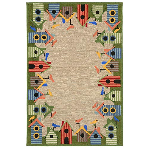 Liora Manne RV181A77144 Fortina Aviary Roost Rug, Indoor/Outdoor, Multicolor