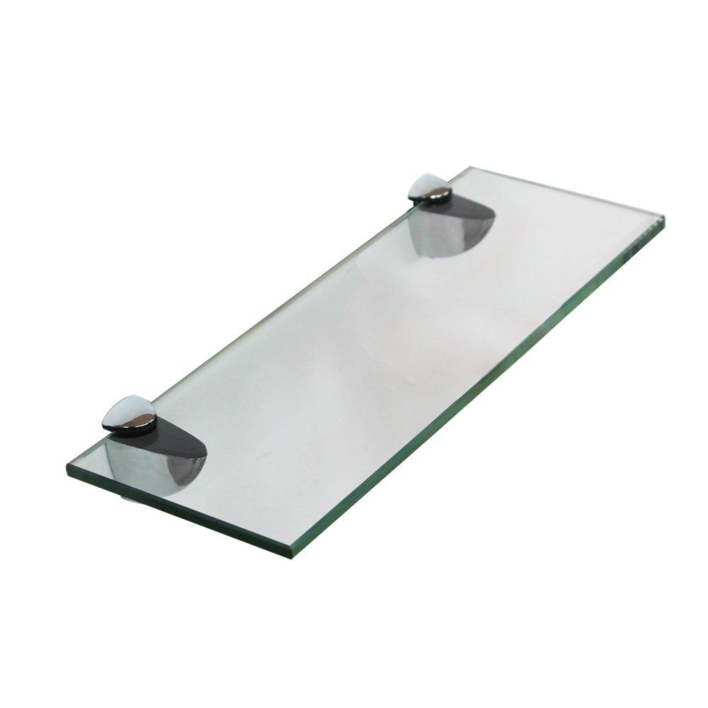 Melko Ripiano in vetro con supporto in acciaio inox, disponibile in diversi modelli