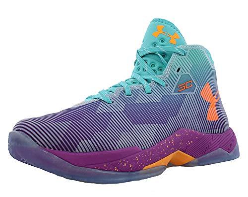 Curry Footwear (Under Armour Boys Curry 2.5 Basketball Shoes (Ion/Purple/Orange Glow, 7 Big Kid M))