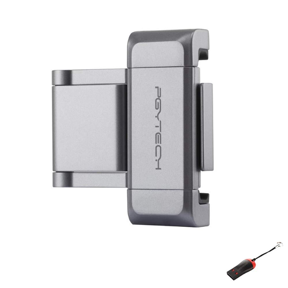 PYGTECH OSMO Pocket Phone Holder Plus with LUCKYBIRD USB Reader by LUCKYBIRD
