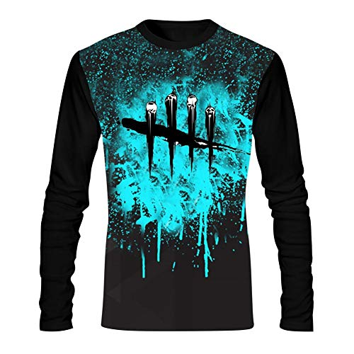 (WWWLONG Day Dead Light Men's T-Shirts Graphic Casual Long Sleeve T Shirt Comfortable Tee Shirt)
