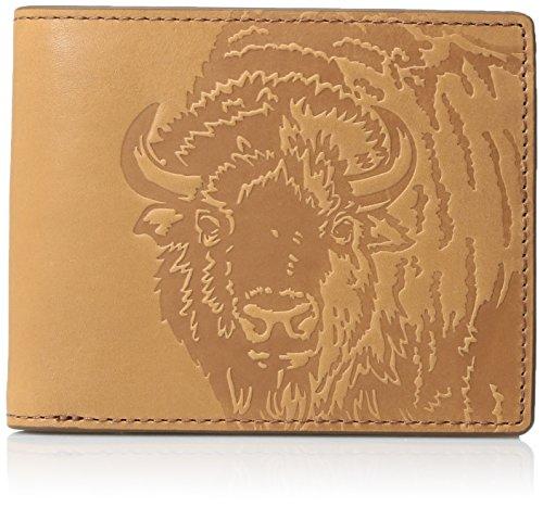 (Fossil Men's Leather Front Pocket Bifold Wallet, Saddle, One Size)