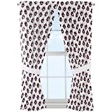 NCAA Auburn Tigers ''Mascot'' Window Curtain Panels - Set of 2 - 36'' x 48''