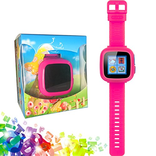 GBD Game Smart Watch Kids Children Boys Girls Gift Travel Camping Camera 1.5'' Touch 10 Games Pedometer Timer Alarm Clock Learning Toys Wrist Watch Bracelet Health Monitor Summer Vacation by GBD (Image #1)