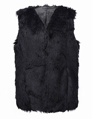 Bellivera Lady Faux Fur Vest Waistcoat Winter Warm Sleeveless Coat Outwear (Fur Winter Vest)