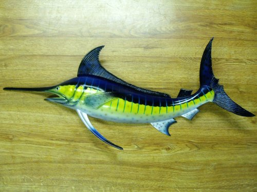 Marlin Replica Nautical Saltwater Fishing Wall Decor - Fish Mount
