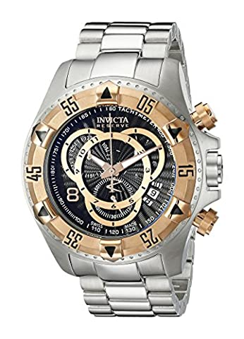 Invicta Men's 10998 Excursion Reserve Chronograph Black Textured Dial Stainless Steel Watch (Invicta Reserve Excursion Gold)