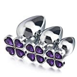 FANGMING Large medium small 3pcs as 1 set new metal anal plug beads four leaf cover butt jewelry insert gay anus sex toys men women