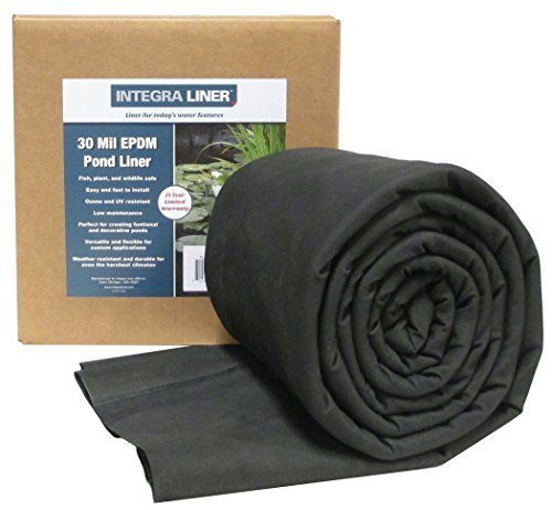 EasyPro Pond Products PL30-1015 Integra 30 Mil EPMD Rubber Pond Liner, 10 x 15' by EasyPro Pond Products by EasyPro Pond Products