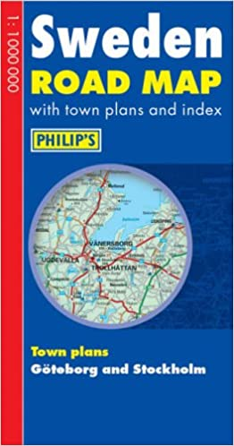 Philips Road Map Europe Sweden Philips Road Atlases Maps