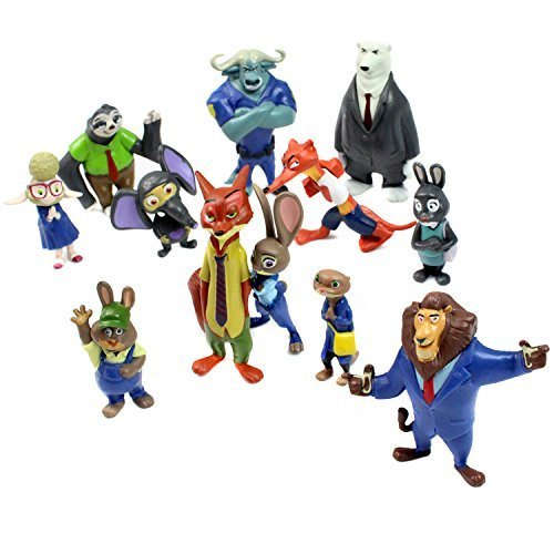 Zootropolis Figures Zootopia Characters 12 Piece Set by Western Animiation