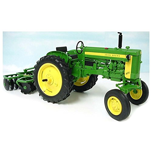 1/16 John Deere 420 Wide Front Tractor with KBL 4 Gang Disc Harrow, PRECISION Key Series #4