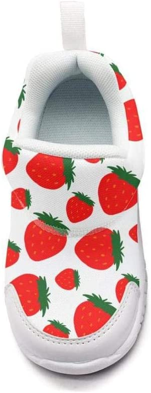 ONEYUAN Children Strawberry Pattern Kid Casual Lightweight Sport Shoes Sneakers Running Shoes