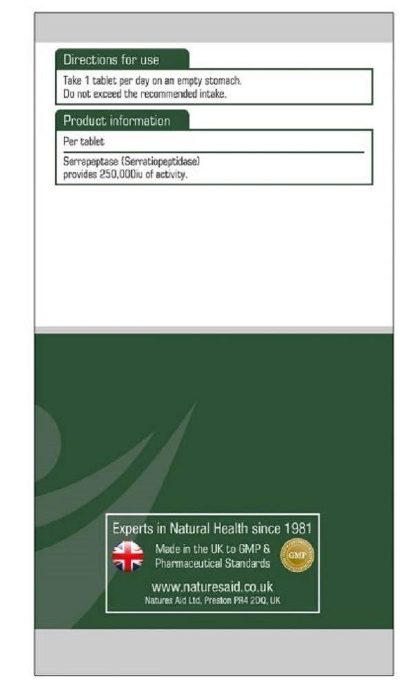Amazon.com: Natures Aid Productos de salud Serrapeptase ...