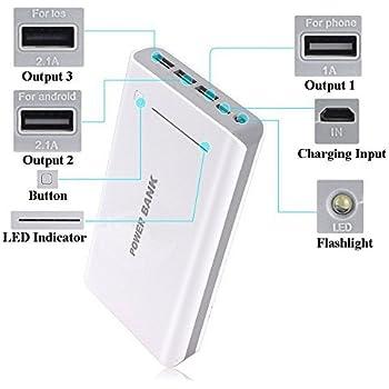 50000mAh Portable 3USB External Battery USB Power Bank Charger for Mobile Phone