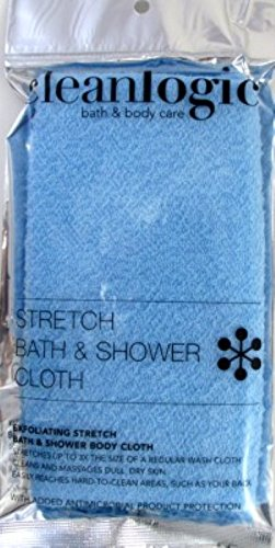 Clean Logic Stretch Bath & Shower Cloth (Assorted Colors) (3 Pack)