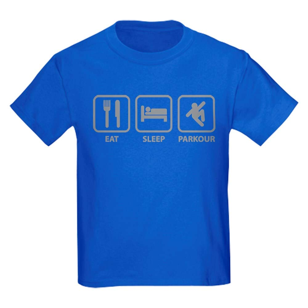 CafePress Eat Sleep Parkour Kids Dark T Shirt Youth Kids Tee