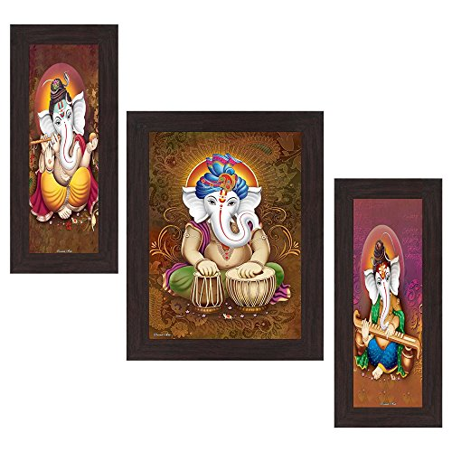 Wens 'Ganesha Indian Deity' Wall Art (MDF, 29.5 cm x 24.5 cm, WSP-4312)