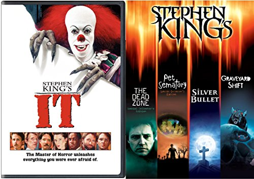 Stephen King Collection It + The Dead Zone, Pet Cemetery, Graveyard Shift, Silver Bullet, Movie Feature Master of Horror & Suspense Possession & Fear ()