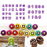 zhcoy 40pcs Alphabet Number Letter Fondant Cake