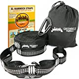 Hammock Straps XL | Hammock Tree Straps 24 ft Lightweight | Reinforced 2100+ LBS Heavy-Duty | Bonus 2 Snag Proof Aluminum Wire Gate Carabiners | 40 Loops of 100% No Stretch Camping Hammock Accessories