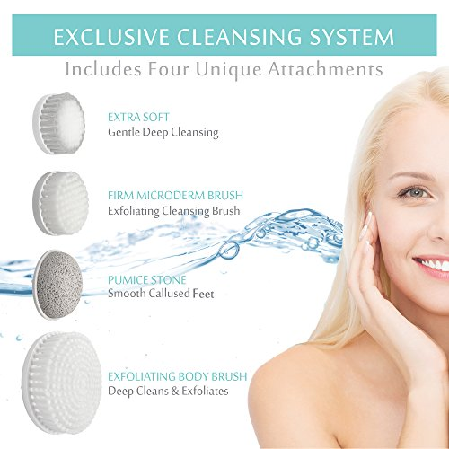 Amazon Com Face Brush Exfoliation Cleansing System Microdermabrasion Facial Brush Deep Cleans Skin Minimize Pores Help Get Rid Of Acne And Blackheads For Face And Body Beauty