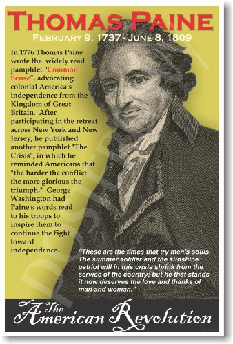 American Revolution: Thomas Paine, Classroom Poster