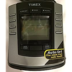 Timex T301B Auto Set Dual Alarm Digital Tuning Clock Radio