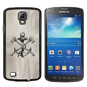 TECHCASE---Cubierta de la caja de protección para la piel dura ** Samsung Galaxy S4 Active i9295 ** --ancla hacha boceto de papel del tatuaje de la tinta del lápiz